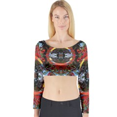 Flamboyant Long Sleeve Crop Top