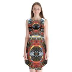 Flamboyant Sleeveless Chiffon Dress