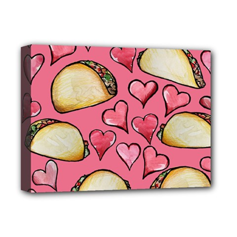 Taco Tuesday Lover Tacos Deluxe Canvas 16  x 12