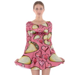 Taco Tuesday Lover Tacos Long Sleeve Skater Dress