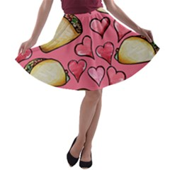 Taco Tuesday Lover Tacos A-line Skater Skirt