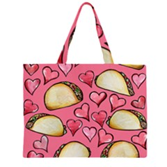 Taco Tuesday Lover Tacos Zipper Large Tote Bag