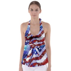 Flag Usa United States Of America Images Independence Day Babydoll Tankini Top