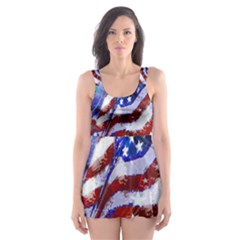 Flag Usa United States Of America Images Independence Day Skater Dress Swimsuit