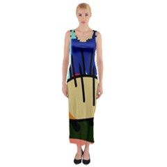 Hedgehog Fitted Maxi Dress