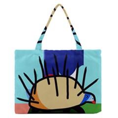 Hedgehog Medium Zipper Tote Bag