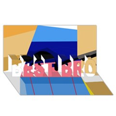 Jumping BEST BRO 3D Greeting Card (8x4)