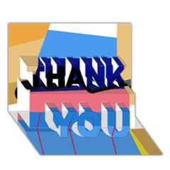 Jumping THANK YOU 3D Greeting Card (7x5)