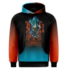 FISH DANCE red blue Men s Pullover Hoodie