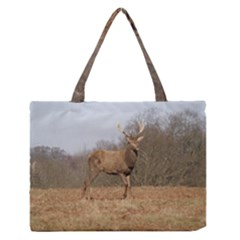 Red Deer Stag on a Hill Medium Zipper Tote Bag