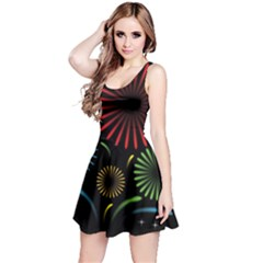 Fireworks With Star Vector Reversible Sleeveless Dress