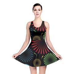 Fireworks With Star Vector Reversible Skater Dress