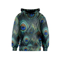 Feathers Art Peacock Sheets Patterns Kids  Pullover Hoodie