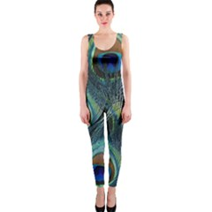 Feathers Art Peacock Sheets Patterns OnePiece Catsuit