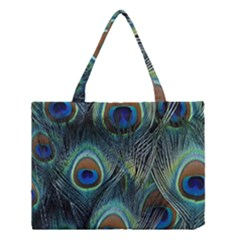 Feathers Art Peacock Sheets Patterns Medium Tote Bag
