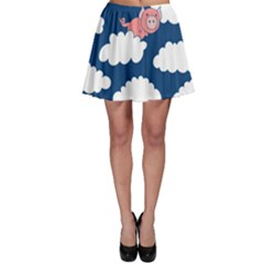 When Pigs Fly Skater Skirt