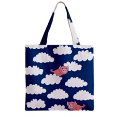 When Pigs Fly Grocery Tote Bag