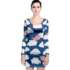 When Pigs Fly Long Sleeve Bodycon Dress