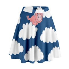 When Pigs Fly High Waist Skirt