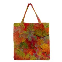 Fall Leaves Grocery Tote Bag