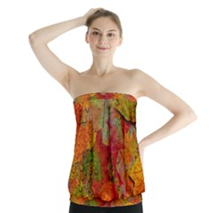 Fall Leaves Strapless Top