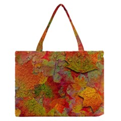 Fall Leaves Medium Zipper Tote Bag