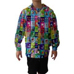 Exquisite Icons Collection Vector Hooded Wind Breaker (Kids)