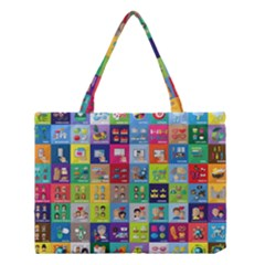 Exquisite Icons Collection Vector Medium Tote Bag