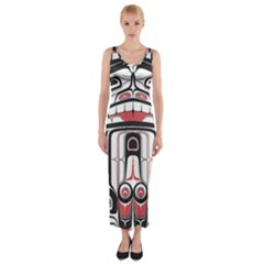 Ethnic Traditional Art Fitted Maxi Dress
