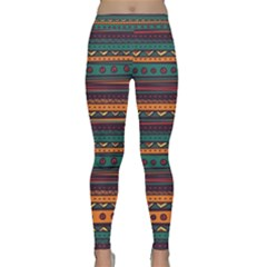 Ethnic Style Tribal Patterns Graphics Vector Yoga Leggings