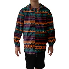 Ethnic Style Tribal Patterns Graphics Vector Hooded Wind Breaker (Kids)