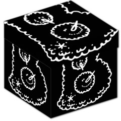 Funny Black And White Doodle Snowballs Storage Stool 12