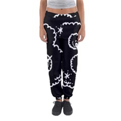 Funny Black And White Doodle Snowballs Women s Jogger Sweatpants