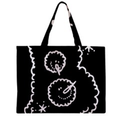 Funny Black And White Doodle Snowballs Zipper Mini Tote Bag