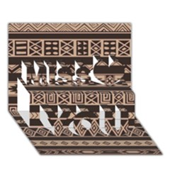 Ethnic Pattern Vector Miss You 3D Greeting Card (7x5)