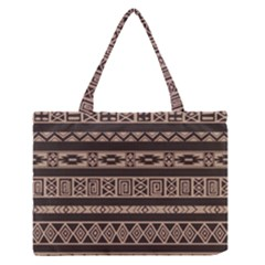 Ethnic Pattern Vector Medium Zipper Tote Bag