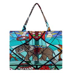 Elephant Stained Glass Medium Tote Bag
