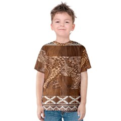 Elephant Aztec Wood Tekture Kids  Cotton Tee