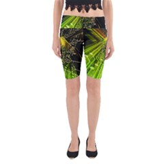 Electronics Machine Technology Circuit Electronic Computer Technics Detail Psychedelic Abstract Patt Yoga Cropped Leggings