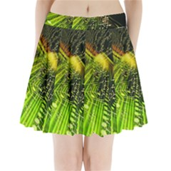 Electronics Machine Technology Circuit Electronic Computer Technics Detail Psychedelic Abstract Patt Pleated Mini Skirt