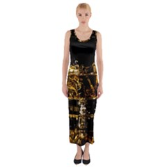 Drink Good Whiskey Fitted Maxi Dress