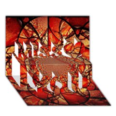 Dreamcatcher Stained Glass Miss You 3D Greeting Card (7x5)
