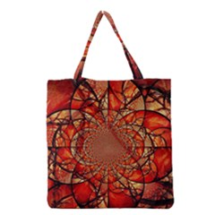 Dreamcatcher Stained Glass Grocery Tote Bag