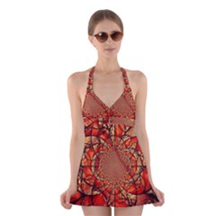 Dreamcatcher Stained Glass Halter Swimsuit Dress