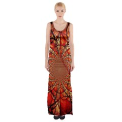Dreamcatcher Stained Glass Maxi Thigh Split Dress