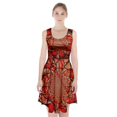 Dreamcatcher Stained Glass Racerback Midi Dress