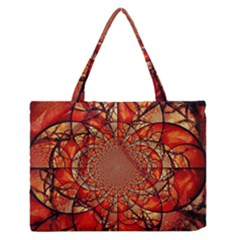 Dreamcatcher Stained Glass Medium Zipper Tote Bag