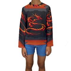 Dragon Kids  Long Sleeve Swimwear