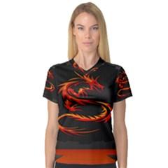 Dragon Women s V-Neck Sport Mesh Tee