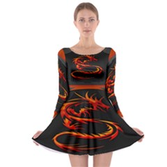 Dragon Long Sleeve Skater Dress